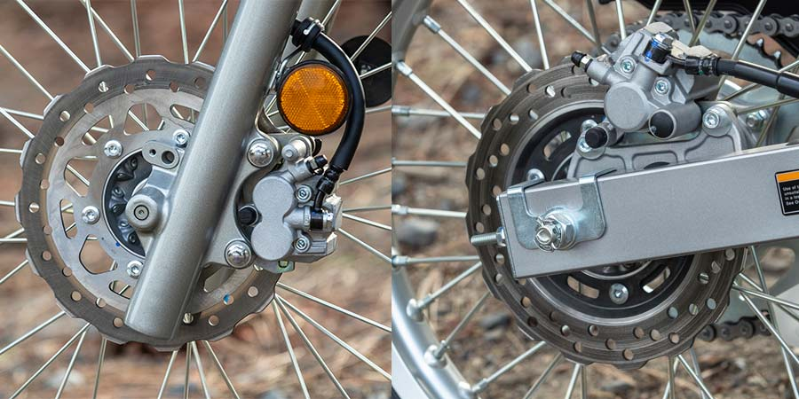 Kawasaki KLX230 brakes