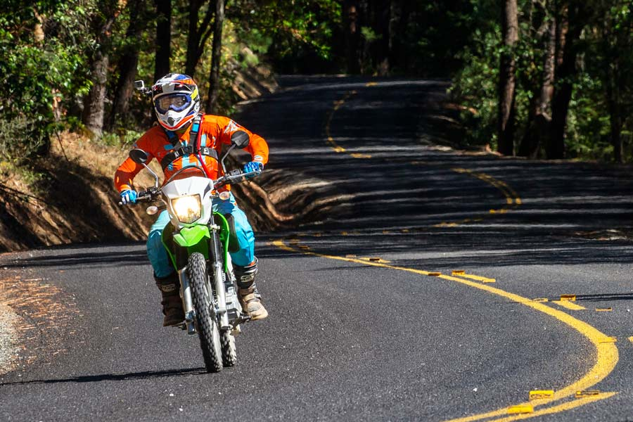 Kawasaki KLX230 road