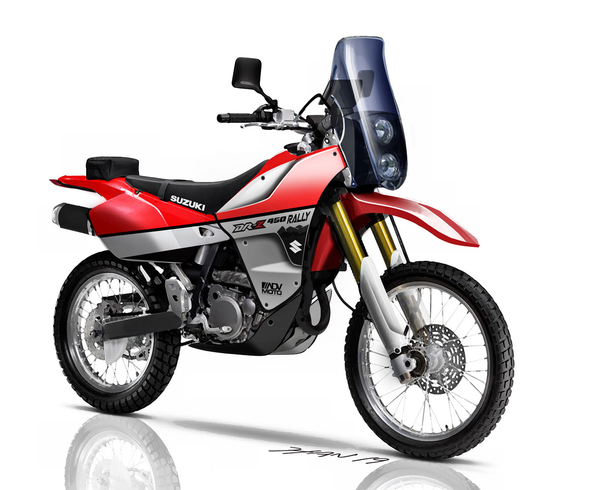 ADVMoto DRZ450Rally Concept Front Red 1