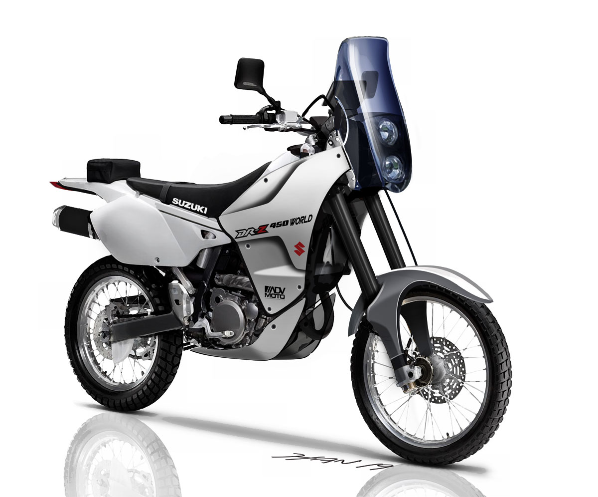 ADVMoto DRZ450World Concept Front White 2