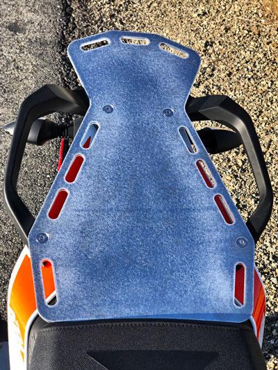 BDCW KTM390 rear rack proto