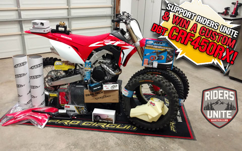 Win a 2017 CRF450RX by Supporting Riders Unite