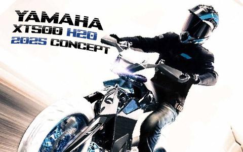 Yamaha XT500 H2O Water Powered Concept Motorcycle